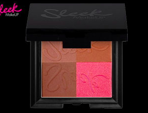 Belleshop Paleta 4 tvářenek Sleek Dark Bronze Block